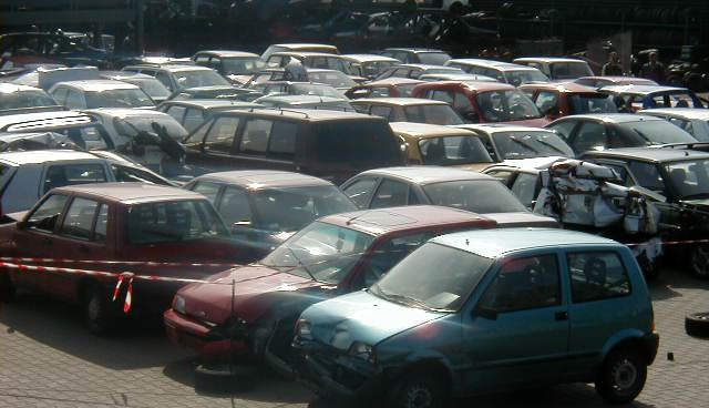 Pojazdy aktualnie oczekujące na demontaż.